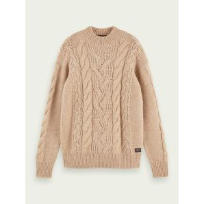 SCOTCH & SODA Chunky cable knit pullover 159623
