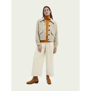 SCOTCH & SODA Wool-blend trucker jacket 162488