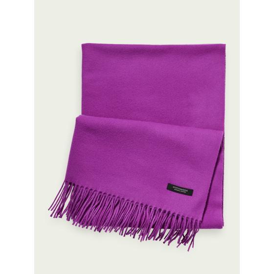 SCOTCH & SODA Unisex wool-blend fringe scarf 159346-1