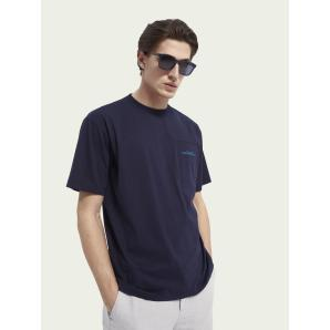 SCOTCH & SODA Relaxed-fit mercerized cotton T-shirt 160866