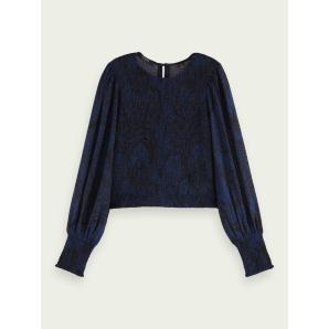 SCOTCH & SODA Fitted top with smock detail 159973