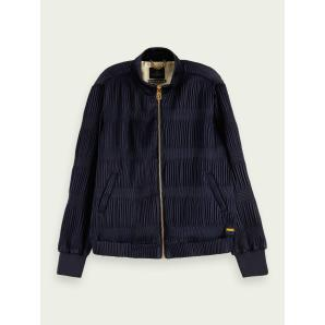 SCOTCH & SODA Pleated long sleeve bomber jacket 156902-0093