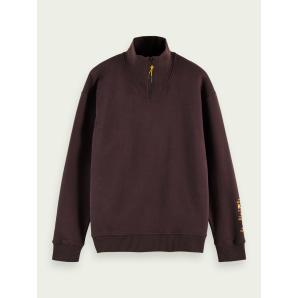 SCOTCH & SODA Cotton half-zip sweatshirt 158458