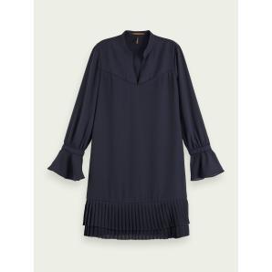 SCOTCH & SODA Pleated hem long sleeve mini dress 159009
