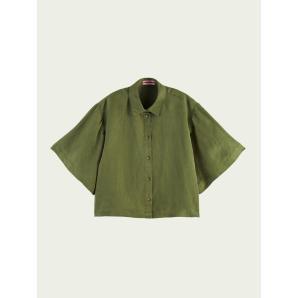 SCOTCH & SODA Short-sleeved linen-blend shirt 161625
