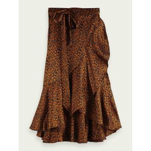 SCOTCH & SODA Printed ruffled wrap skirt 162160