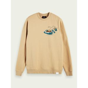 SCOTCH & SODA Printed long sleeve sweatshirt 156783-0217