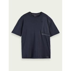 SCOTCH & SODA T-shirt with fabric insets 156821