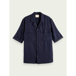 SCOTCH & SODA Short-sleeved viscose-blend shirt 160685