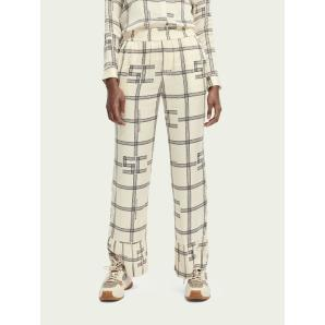 SCOTCH & SODA High-rise printed Pyjama style pants 156929