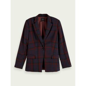SCOTCH & SODA Longer length checked blazer 159166