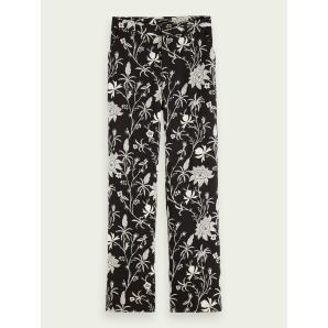 SCOTCH & SODA Wide-leg printed trousers 162192