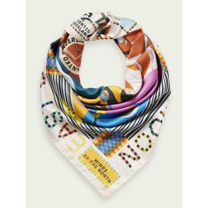 SCOTCH & SODA Supple map print scarf 159342
