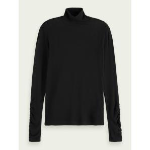 SCOTCH & SODA Long sleeve TENCEL™ turtleneck t-shirt 160396