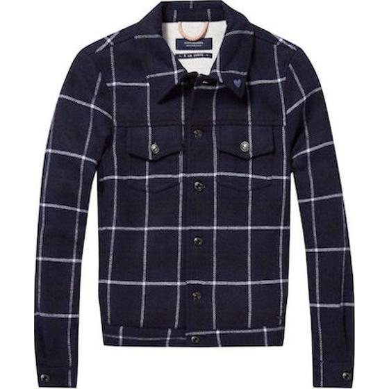 Scotch & soda wool trucker jacket 144498-0