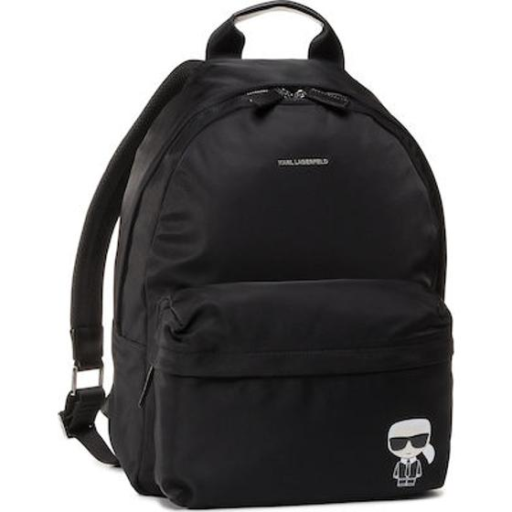 Karl lagerfeld k/ikonik nylon and leather  backpack -0
