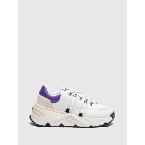 DIESEL S-HERBY TREK EVO Chunky sneakers in leather and suede Y02702 PR131