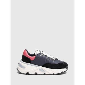 DIESEL S-HERBY TREK Chunky sneakers in nylon and suede Y02730 P0334