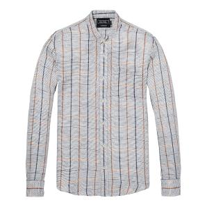 SCOTCH & SODA Structured Linen Shirt  Regular fit