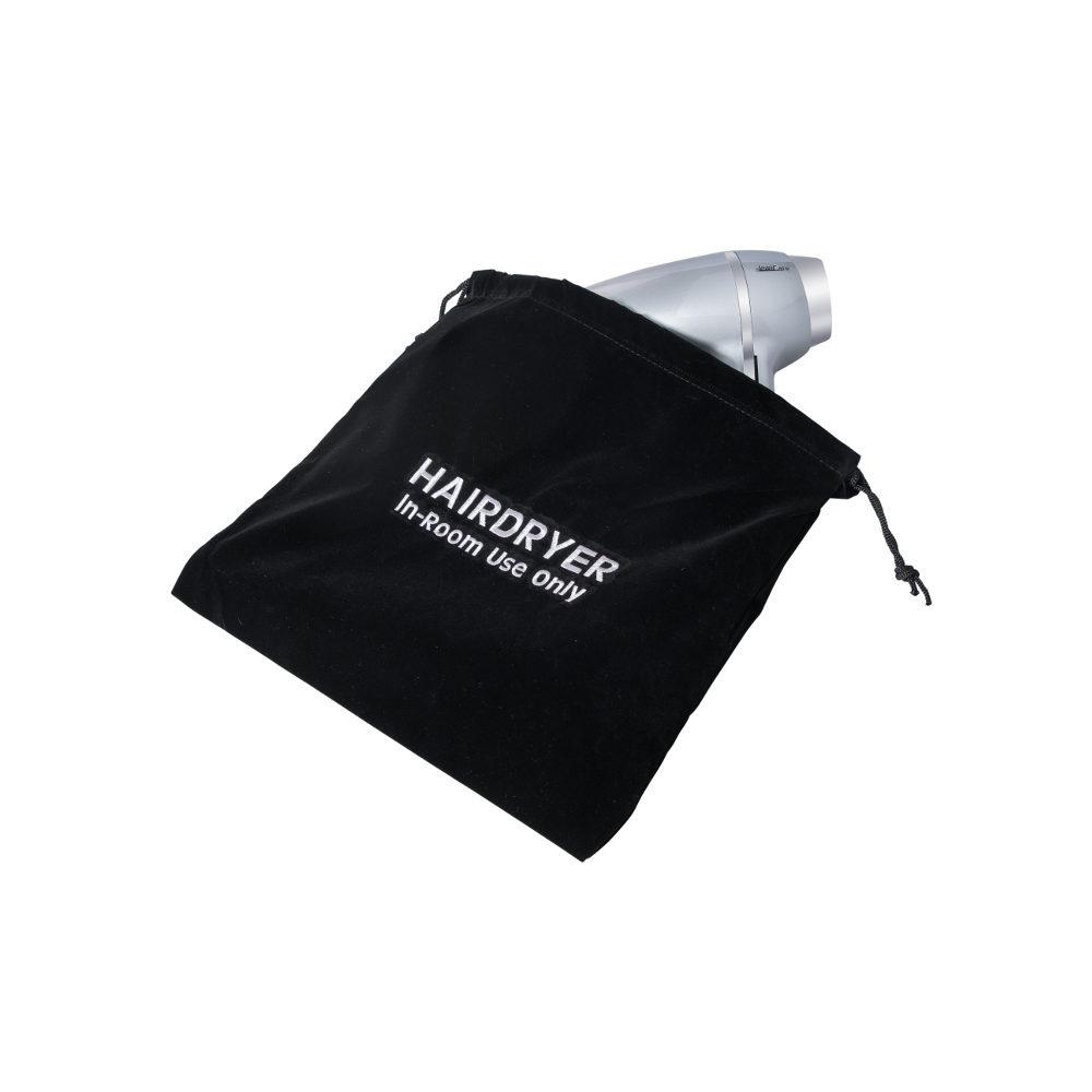 Τσάντα για σεσουάρ JVD 2502370, βελούδο, μαύρη