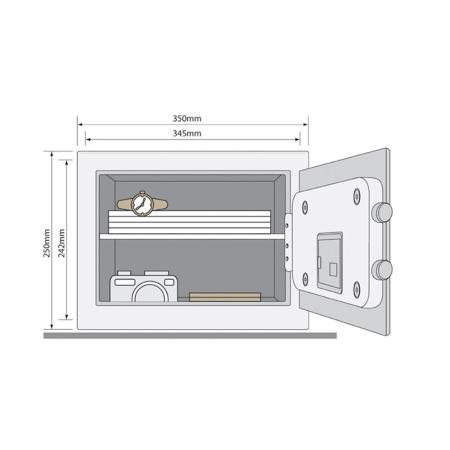 Χρηματοκιβώτιο Yale YSB/250/EB1, μαύρο - 25,0 x 35,0 x 30,0 cm
