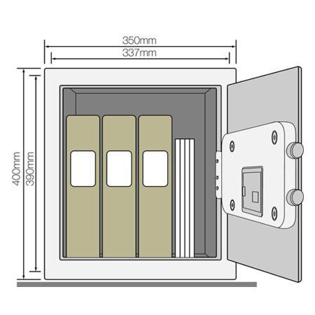 Χρηματοκιβώτιο γραφείου, Yale YSB/400/EB1, γραφείου - 40,0 x 35,0 x 34,0 cm