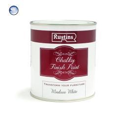 Χρώμα Κιμωλίας, Rustins Chalky finish paint, Windsor white, ματ, 250ml