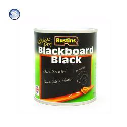 Χρώμα κιμωλίας για μαυροπίνακα, Rustins Blackboard Black, μαύρο, ματ, 250ml