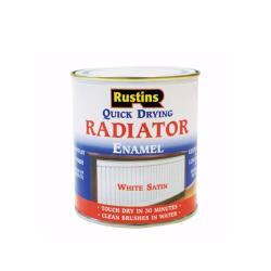 Χρώμα για καλοριφέρ, Rustins Quick Dry Radiator Paint Satin, λευκό, σατινέ, 250ml