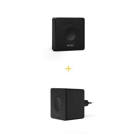 Σετ - Συσκευή απομακρυσμένης διαχείρισης Nuki Bridge και συσκευή για σύνδεση με θυροτηλέφωνο Nuki Opener