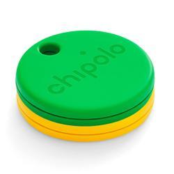 Σετ 2 Μπρελόκ ανίχνευσης αντικειμένων Chipolo One Item Finder, κίτρινο και πράσινο