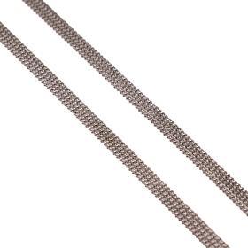 Αλυσίδα  τριπλή λευκόχρυση 14ΚΤ.