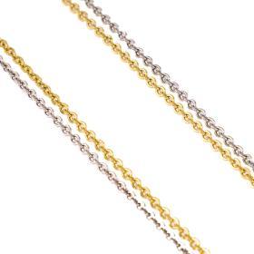 Αλυσίδα γκρέκα  διπλή σε χρυσό και λευκό χρυσό 14 ΚΤ.