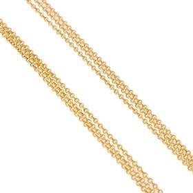 Αλυσίδα γκρέκα τριπλή σε χρυσό 14 ΚΤ.