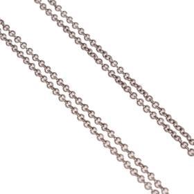 Αλυσίδα διπλή στρογγυλή αραιή σε  λευκό χρυσό 14ΚΤ.