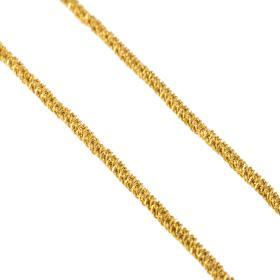 Αλυσίδα με διαμανταρισμένη επιφάνεια σε χρυσό 14ΚΤ.   AL001232