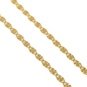 Αλυσίδα οβάλ σφυρήλατη σε χρυσό 14ΚΤ.