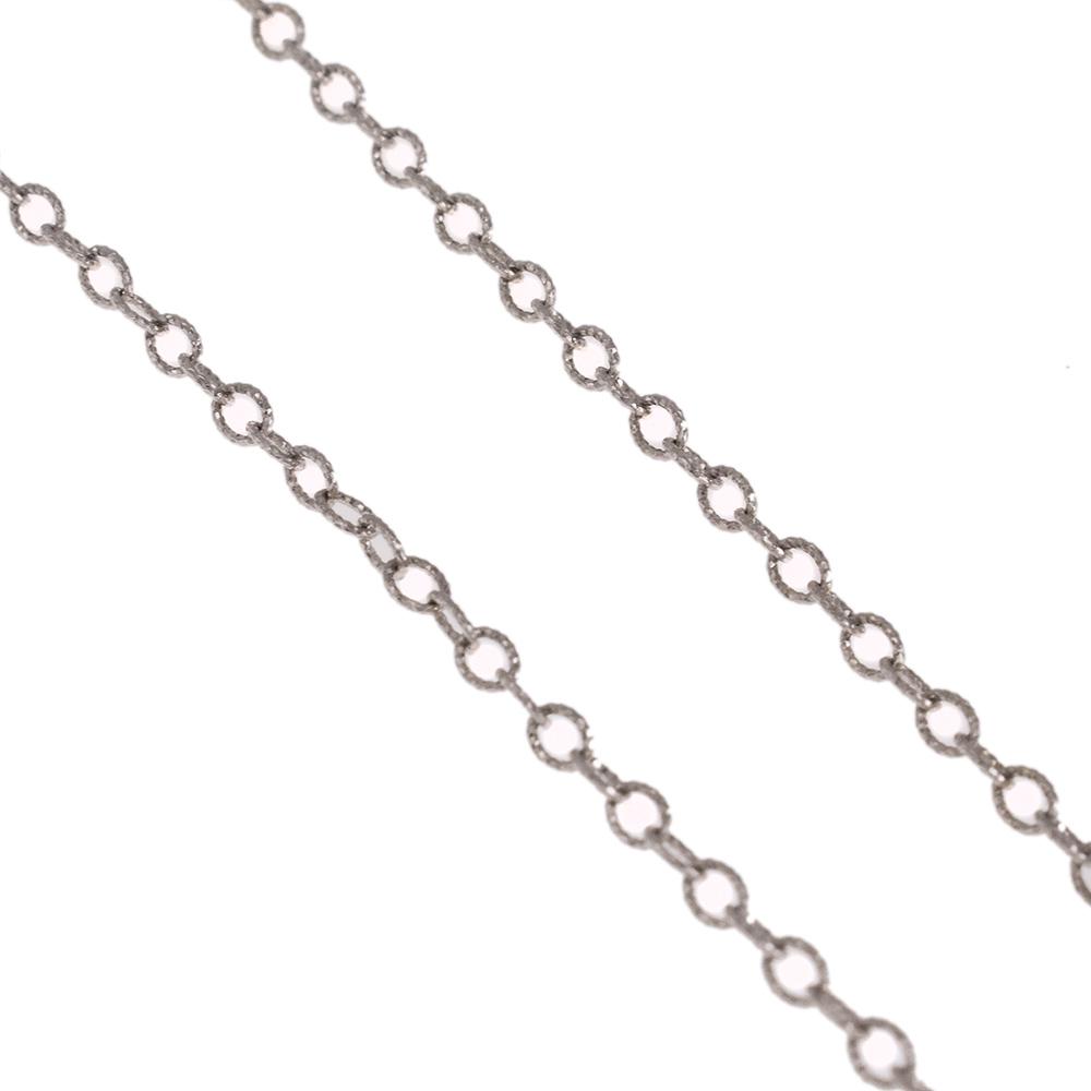 Αλυσίδα με διαμανταρισμένη επιφάνεια λευκόχρυση 14ΚΤ.