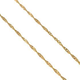 Αλυσίδα σιγκαπούρη στριφτή  σε  χρυσό 14ΚΤ   003871.