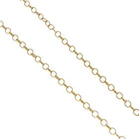 Αλυσίδα στρογγυλή αραιή σε χρυσό 14 ΚΤ.   AL005541