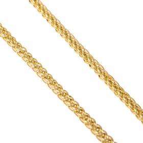 Αλυσίδα σπίγγα  κούφια σε χρυσό 14ΚΤ.