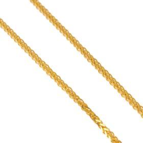 Αλυσίδα σπίγγα τετράγωνη σε χρυσό 14 ΚΤ.
