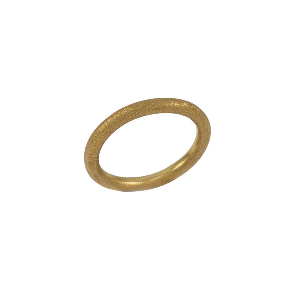 Βέρα matte σε κίτρινο χρυσό 14ΚΤ .