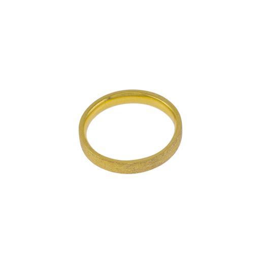 Βέρες ματ σε κίτρινο χρυσό 14ΚΤ .