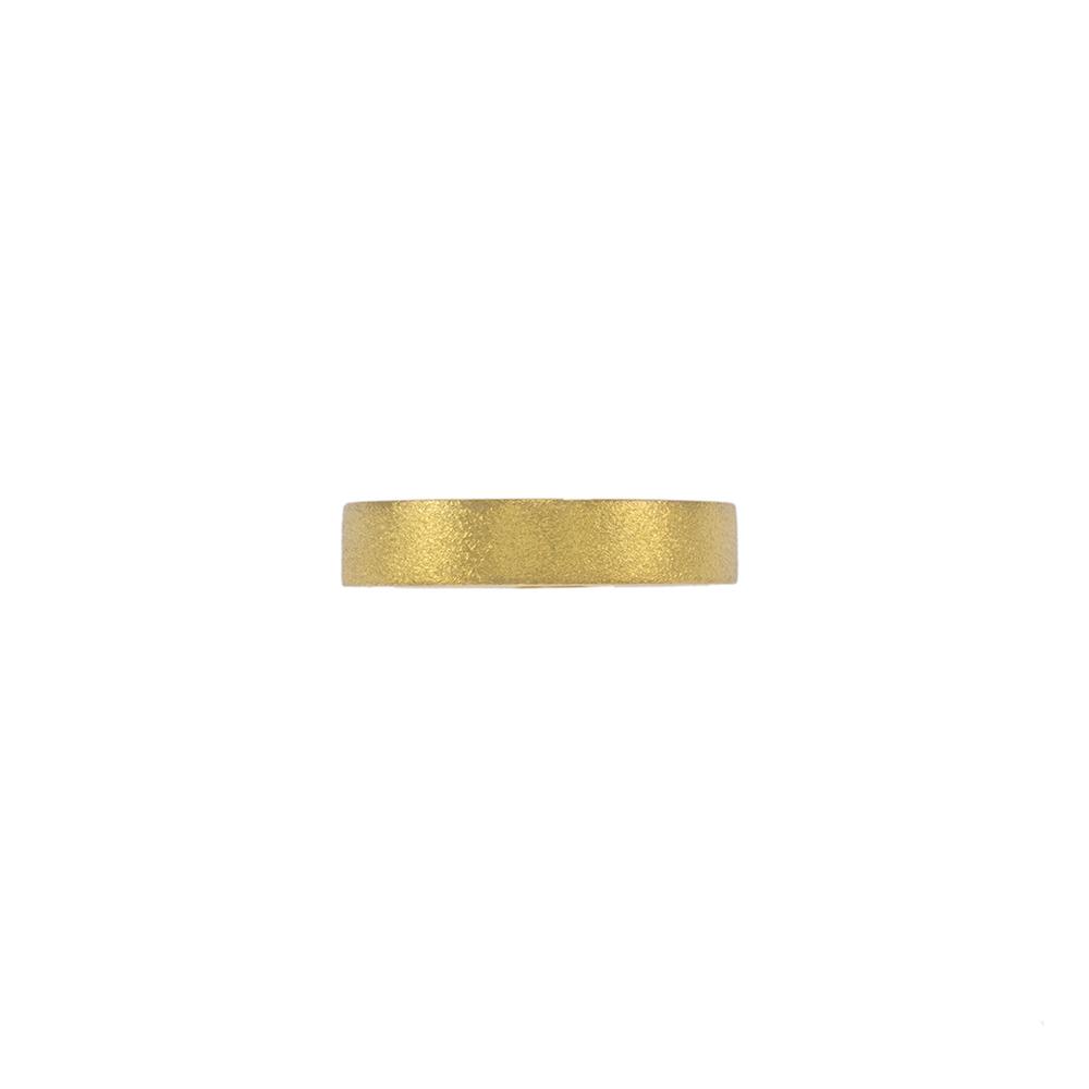 Βέρα τετραγωνισμένη 4,5mm σε κίτρινο matte χρυσό 14ΚΤ.    BE001992