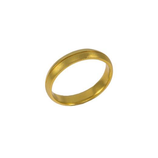 Βέρα  διπλή ,ματ και λουστρέ σε κίτρινο χρυσό 14ΚΤ