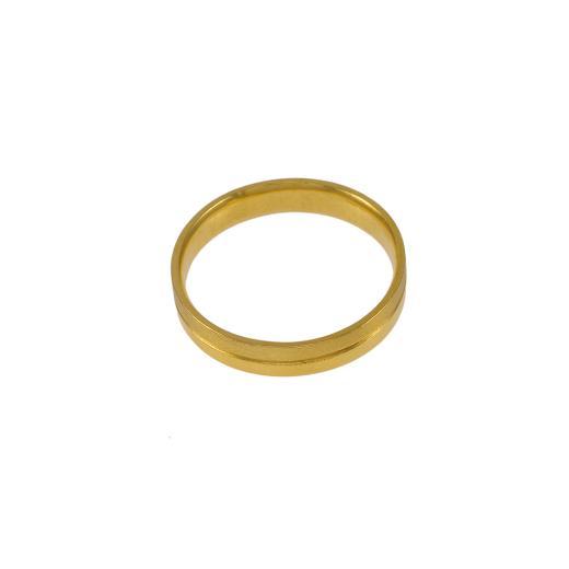 Βέρα  διπλή, ματ και λουστρέ σε κίτρινο χρυσό 14ΚΤ .