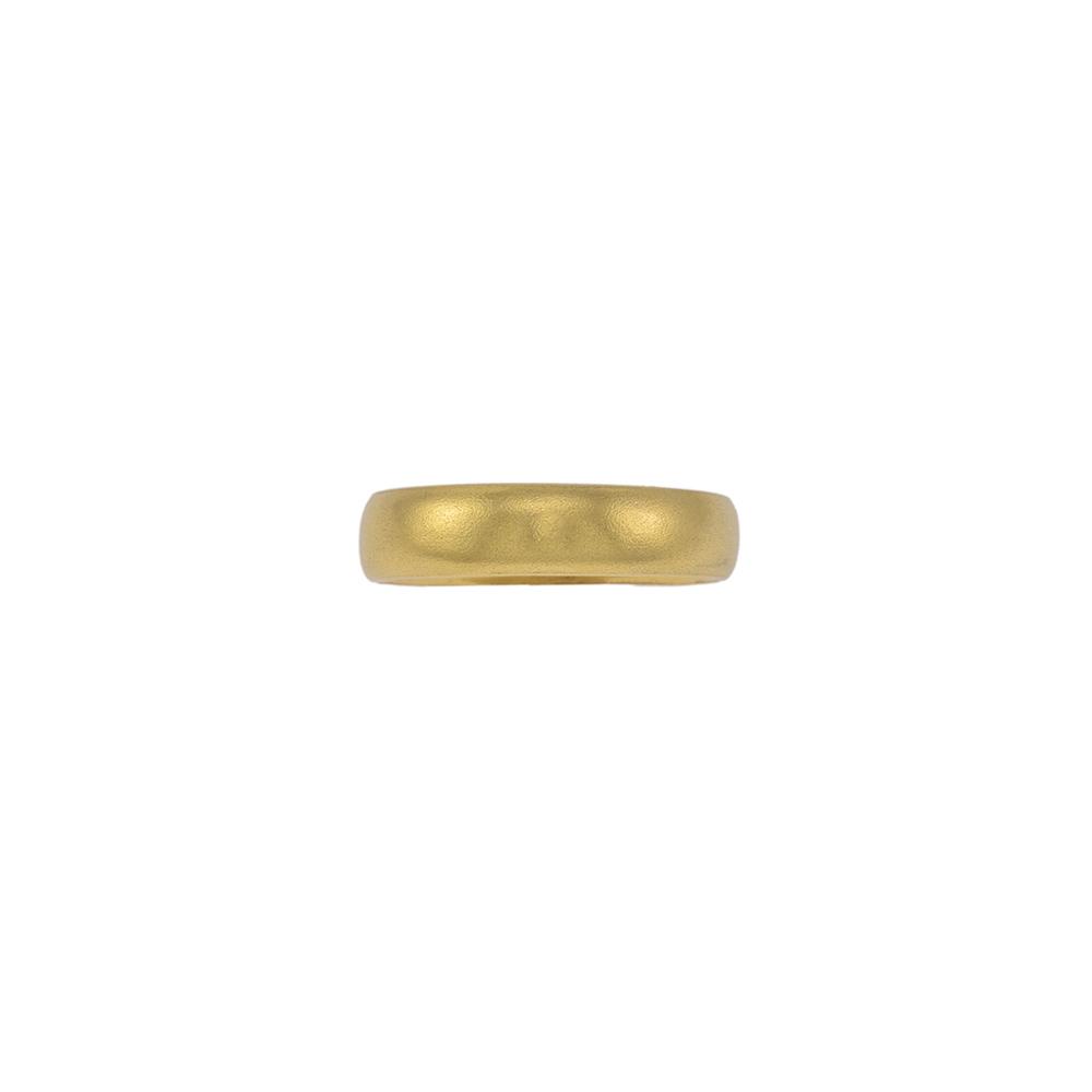 Βέρα 4.5 mm σε κίτρινο ματ χρυσό 14ΚΤ.   BE002008