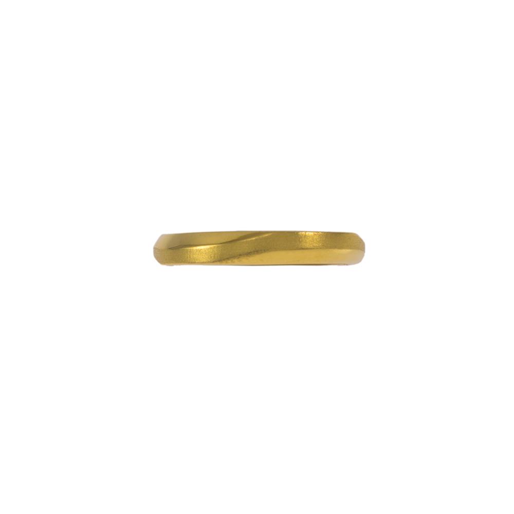 Βέρα   με κυματιστή ματ και λουστρέ  επιφάνεια σε κίτρινο χρυσό 14ΚΤ.    BE002013
