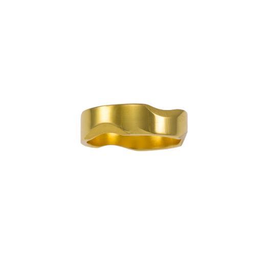 Βέρα 6.0 mm σε κίτρινο λουστρέ χρυσό 14ΚΤ με μικρές εσοχές σε ματ επιφάνεια    BE002015